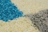 Modern turquoise vloerkleed Adriana Shaggy  1501/AY Turquoise_