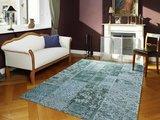 Vintage turquoise vloerkleden New York 486 Turquoise_