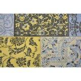 Patchwork Vintage vloerkleed Dalyan Geel Grijs_