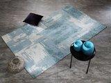 Laagpolig modern vloerkleed Malaine 486 Turquoise_