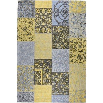 Patchwork Vintage vloerkleed Dalyan Geel Grijs