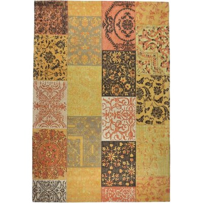Vintage patchwork vloerkleed Dalyan Oker