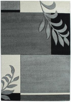 Antraciet grijs vloerkleed Fleur 930
