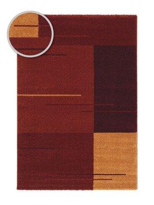 Modern geruit vloerkleed Rosalia Bruin 002010
