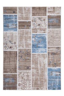Vintage patchwork vloerkleed  of karpet Agila Blauw