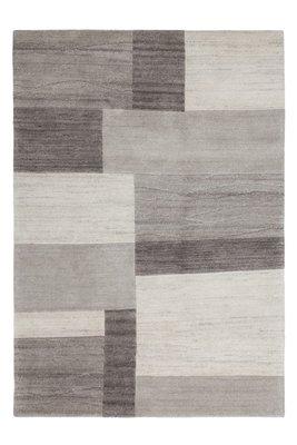 Handgeknoopte wollen tapijten en vloerkleden grijs Flores