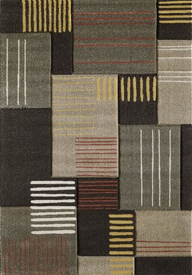 Moderne vloerkleden en tapijten Alor 1502 Fume