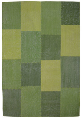 Patchwork vloerkleed Lira Multicolor groen