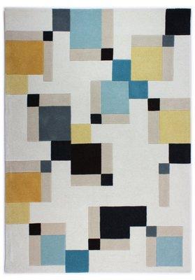 Wol vloerkleed Abstract kleur multi