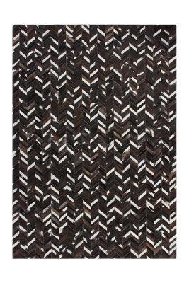 Leren vloerkleed Patch 852 kleur Bruin