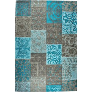 Dalyan vloerkleed Patch Vintage Aqua