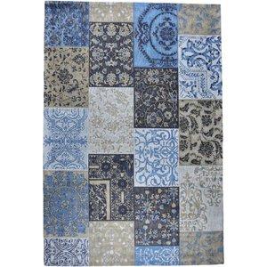 Vloerkleed Dalyan Patch Vintage Blauw