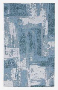 Laagpolig modern vloerkleed Malaine 486 Turquoise
